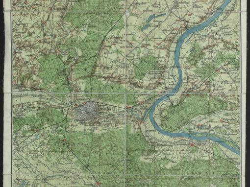 Mapa turystyczna okolic Bydgoszczy 1:75k 1916 r.