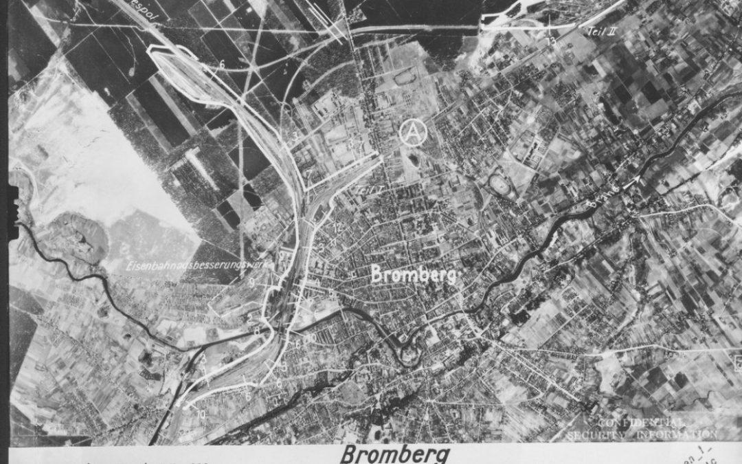 Zdjęcie lotnicze Bydgoszcz 1944 rok