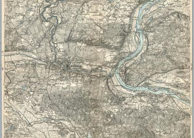 Niemiecka mapa topograficzna 1:100k ca. 1890 rok