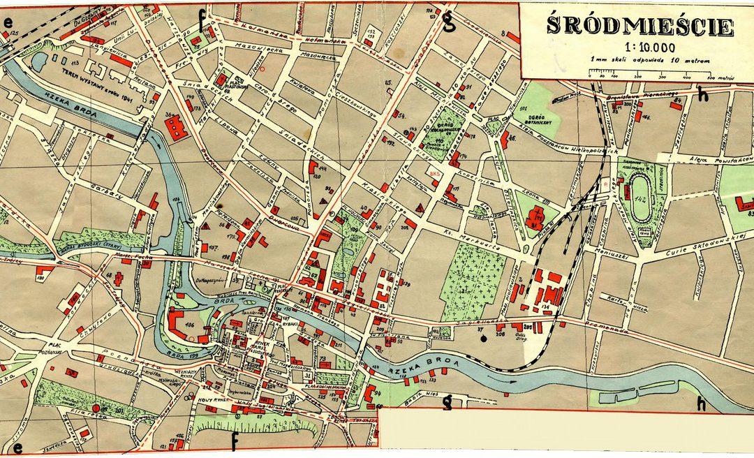 Plan Miasta Bydgoszczy 1:25k 1939 rok – śródmieście 1:10k