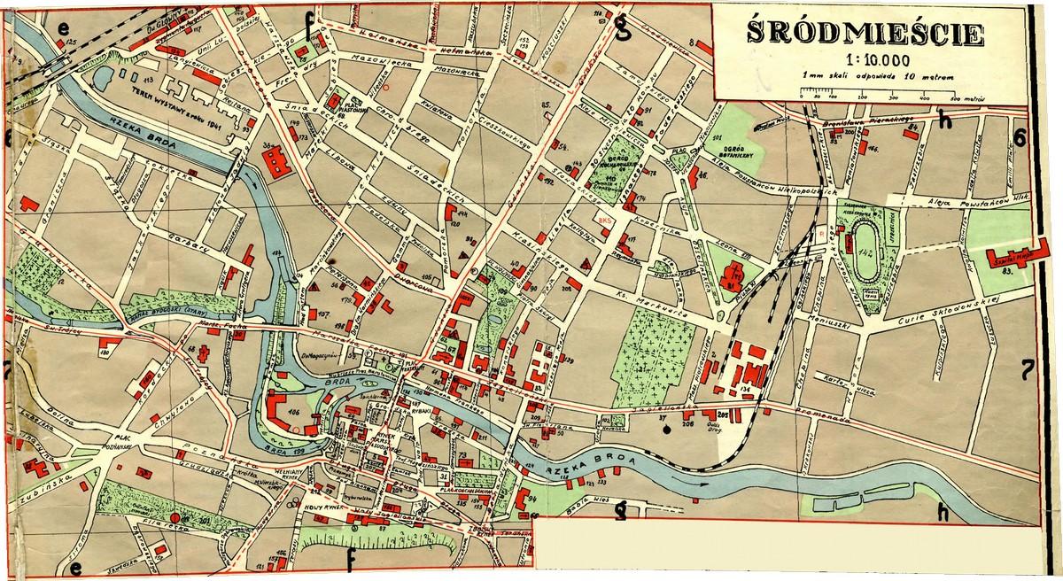 Plan Miasta Bydgoszczy 125k 1939 Rok śródmieście 110k Stare