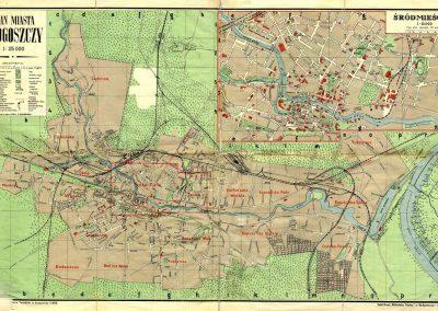 Plan Miasta Bydgoszczy 1:25k 1939 rok