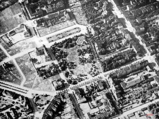 Zdjęcie lotnicze okolic parku im. Kochanowskiego w Bydgoszczy, ok. 1911 r.