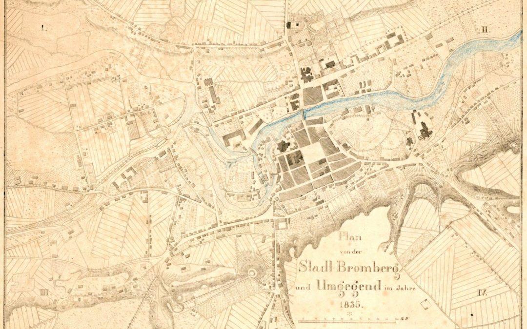 Plan miasta i okolic Bydgoszcz w roku 1835