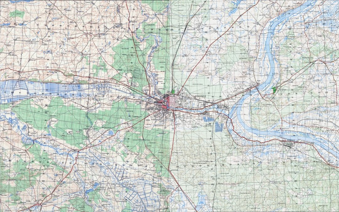 Amerykańska mapa topograficzna 1:50k 1963 r.