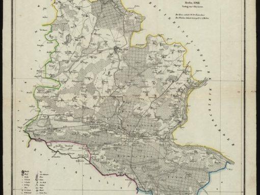 Mapa okolic Bydgoszczy 1:150k 1848 r.