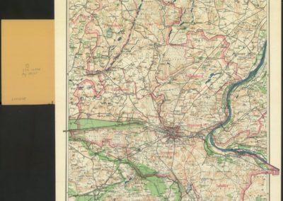 Mapa topograficzna okolic Bydgoszczy 1:100k 1914 r.
